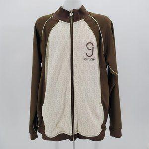 Sean John Brown Off-White Track Jacket Mens XXXL